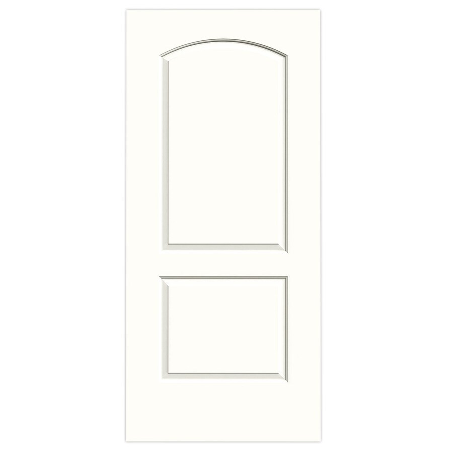 JELD-WEN Snow Storm Solid Core 2-Panel Round Top Slab Interior Door (Common: 36-in x 80-in; Actual: 36-in x 80-in)