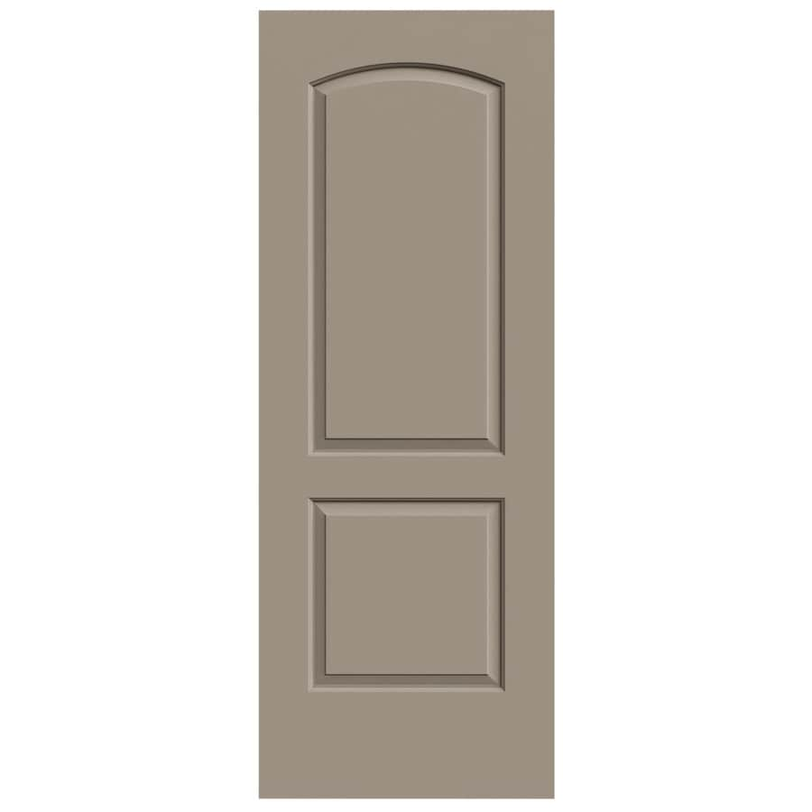 JELD-WEN Sand Piper Solid Core 2-Panel Round Top Slab Interior Door (Common: 24-in x 80-in; Actual: 24-in x 80-in)