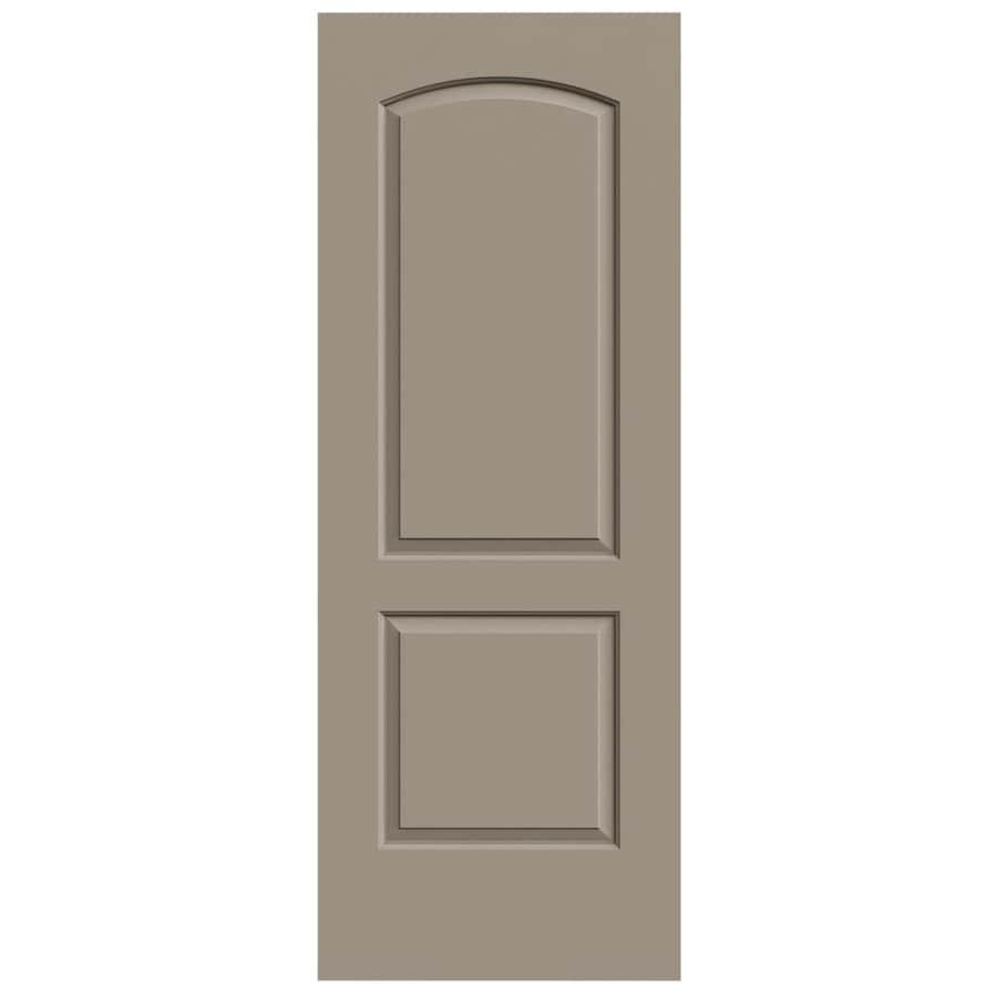 JELD-WEN Sand Piper Solid Core 2-Panel Round Top Slab Interior Door (Common: 28-in x 80-in; Actual: 28-in x 80-in)