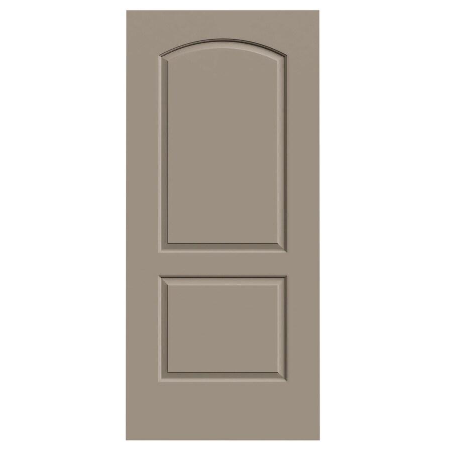 JELD-WEN Sand Piper Solid Core 2-Panel Round Top Slab Interior Door (Common: 36-in x 80-in; Actual: 36-in x 80-in)