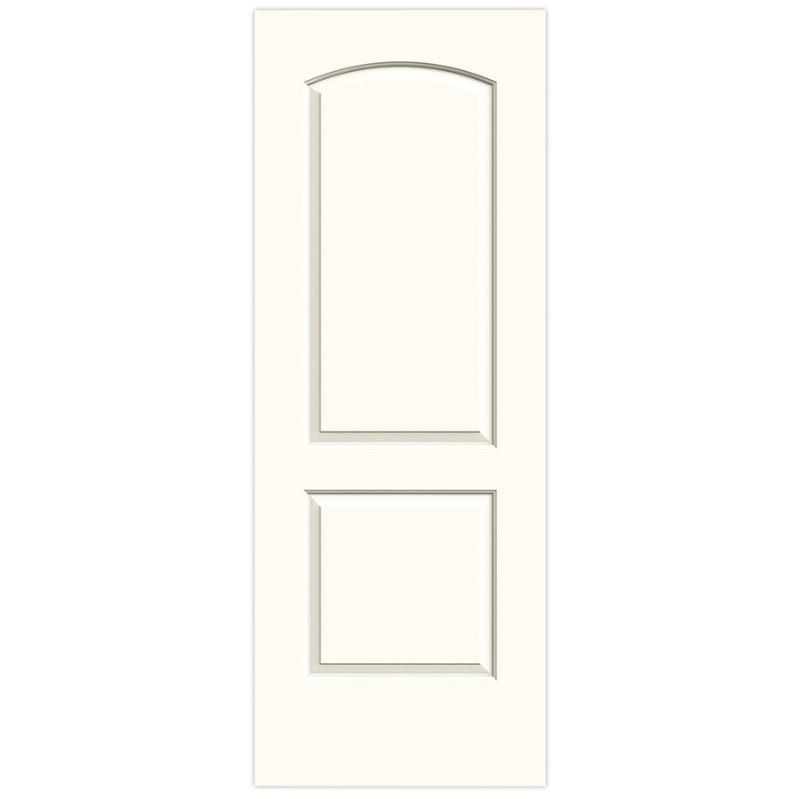 JELD-WEN White Solid Core 2-Panel Round Top Slab Interior Door (Common: 28-in x 80-in; Actual: 28-in x 80-in)