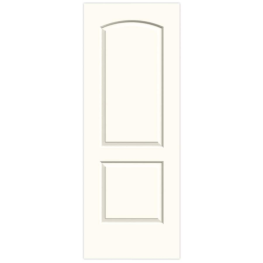 JELD-WEN White Solid Core 2-Panel Round Top Slab Interior Door (Common: 32-in x 80-in; Actual: 32-in x 80-in)