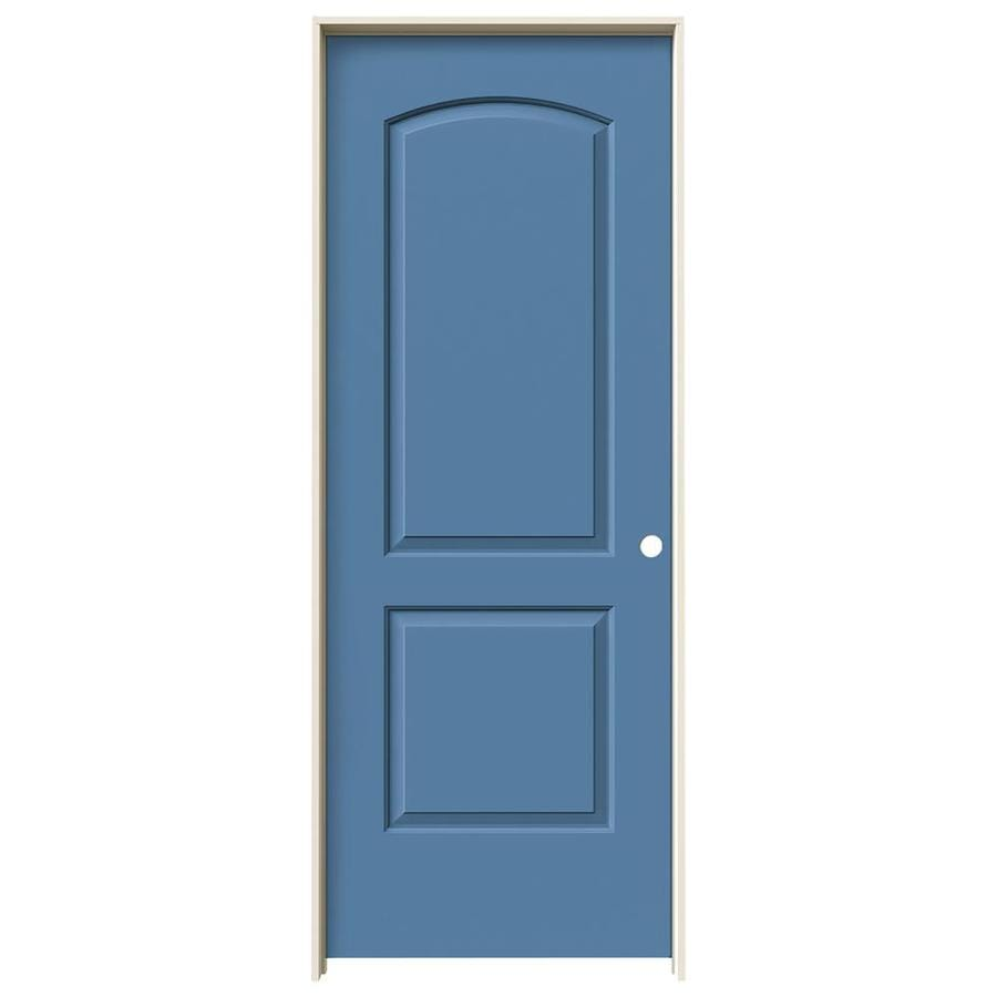 JELD-WEN Blue Heron 2-panel Round Top Single Prehung Interior Door (Common: 24-in x 80-in; Actual: 25.562-in x 81.688-in)