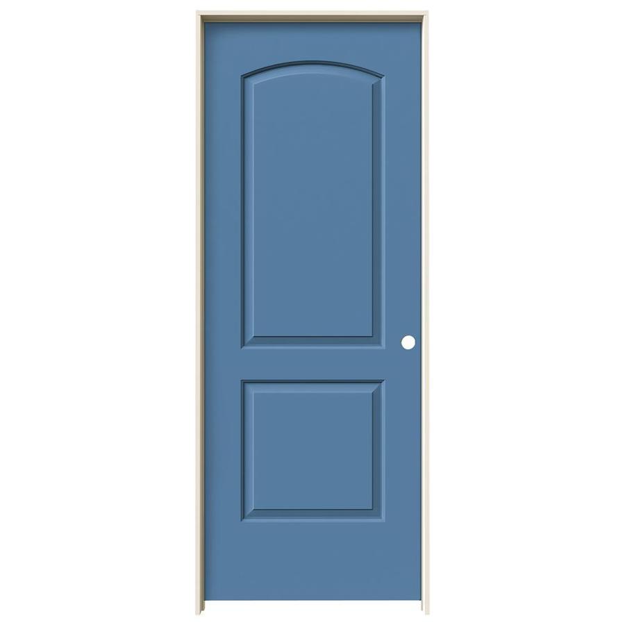 JELD-WEN Blue Heron 2-panel Round Top Single Prehung Interior Door (Common: 30-in x 80-in; Actual: 31.562-in x 81.688-in)