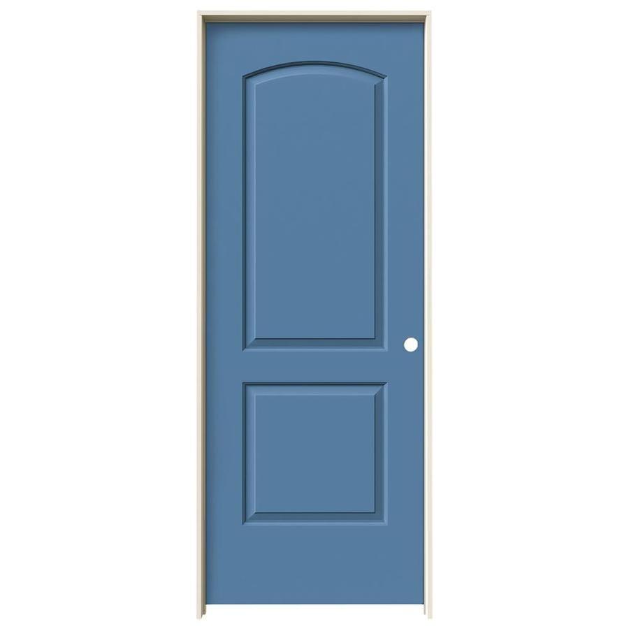 JELD-WEN Blue Heron Prehung Hollow Core 2-Panel Round Top Interior Door (Common: 32-in x 80-in; Actual: 33.562-in x 81.688-in)