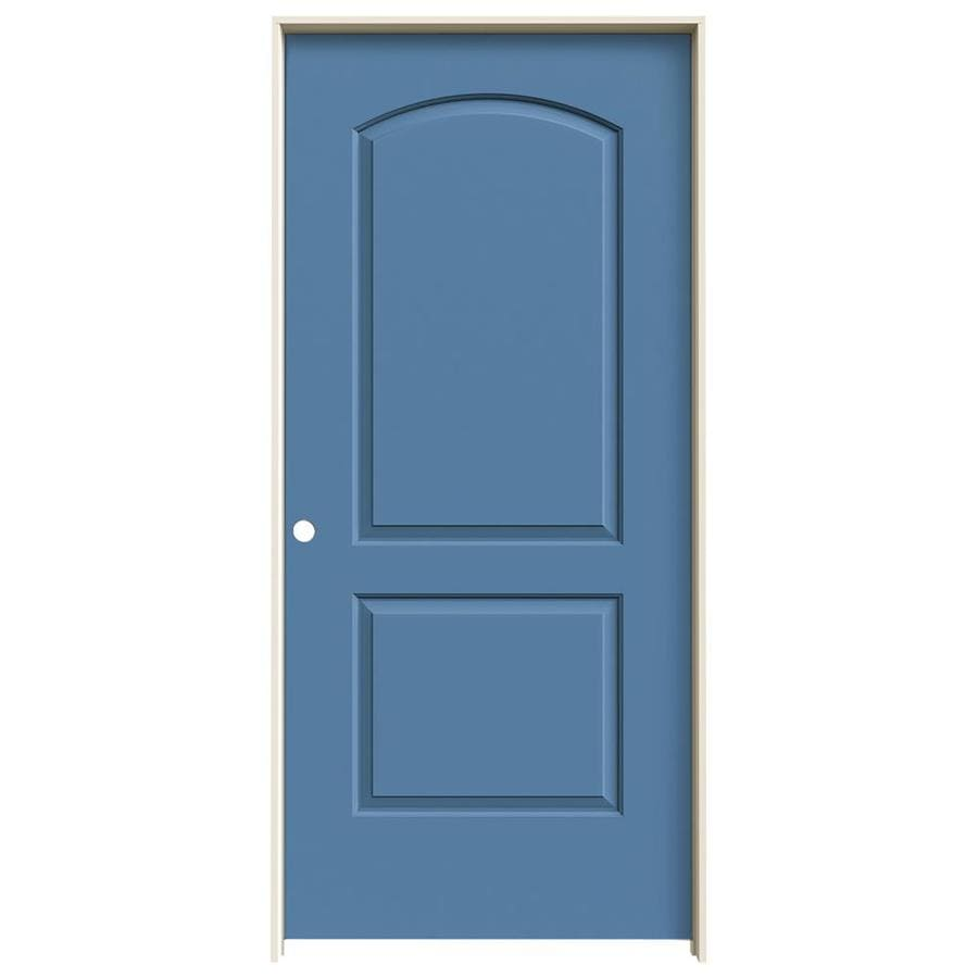 JELD-WEN Blue Heron Prehung Hollow Core 2-Panel Round Top Interior Door (Common: 36-in x 80-in; Actual: 37.562-in x 81.688-in)