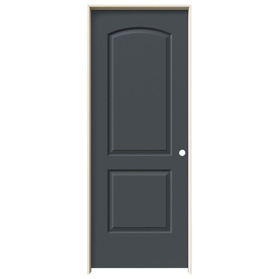 JELD-WEN Slate 2-panel Round Top Single Prehung Interior Door (Common: 24-in x 80-in; Actual: 25.5620-in x 81.6880-in)