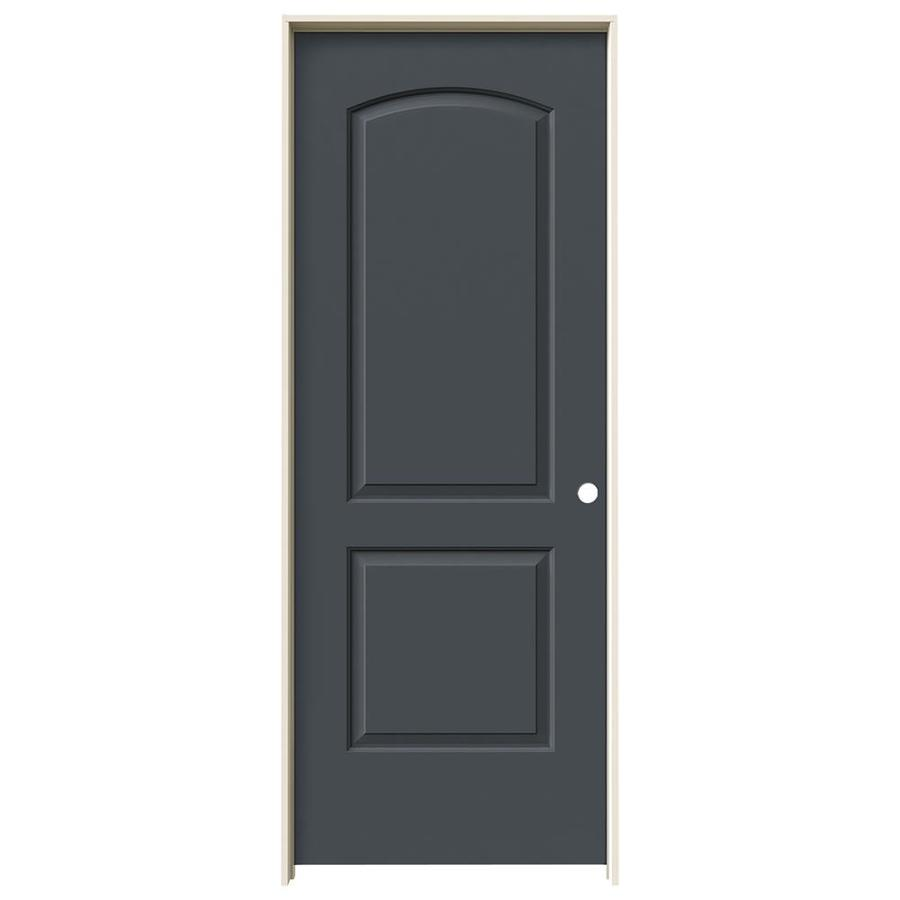 JELD-WEN Continental Slate Single Prehung Interior Door (Common: 32-in x 80-in; Actual: 33.5620-in x 81.6880-in)