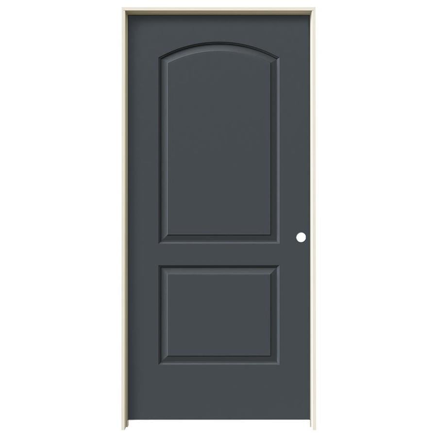 JELD-WEN Continental Slate Hollow Core Molded Composite Single Prehung Interior Door (Common: 36-in x 80-in; Actual: 37.562-in x 81.688-in)