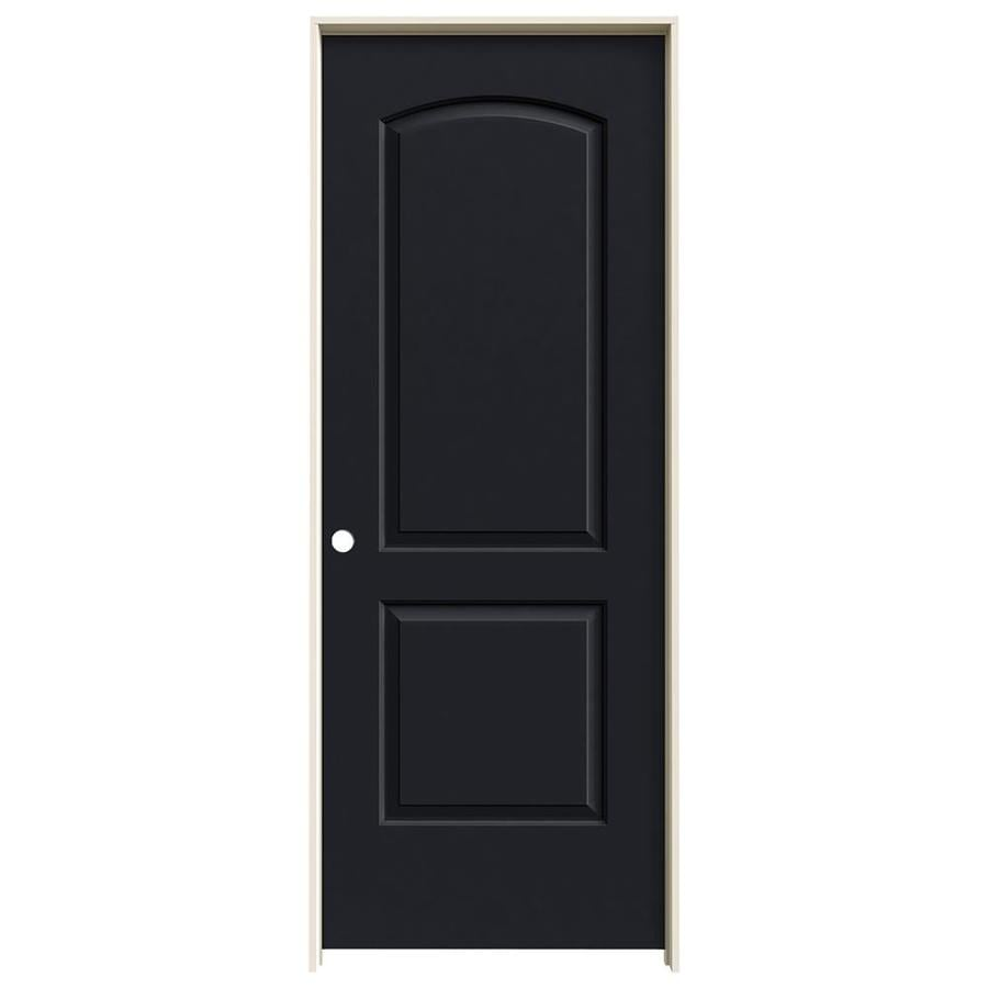 JELD-WEN Midnight Prehung Hollow Core 2-Panel Round Top Interior Door (Common: 28-in x 80-in; Actual: 29.562-in x 81.688-in)