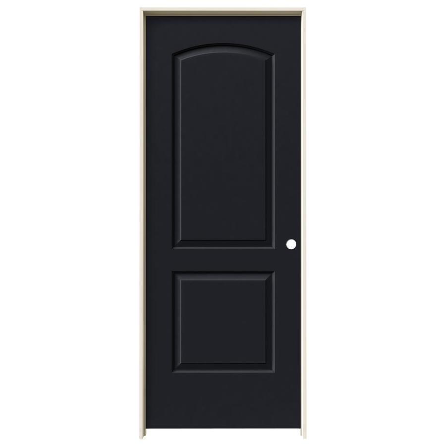 JELD-WEN Continental Midnight Hollow Core Molded Composite Single Prehung Interior Door (Common: 30-in x 80-in; Actual: 31.5620-in x 81.6880-in)