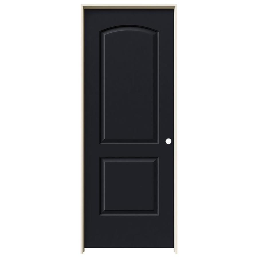 JELD-WEN Midnight Prehung Hollow Core 2-Panel Round Top Interior Door (Common: 32-in x 80-in; Actual: 33.562-in x 81.688-in)