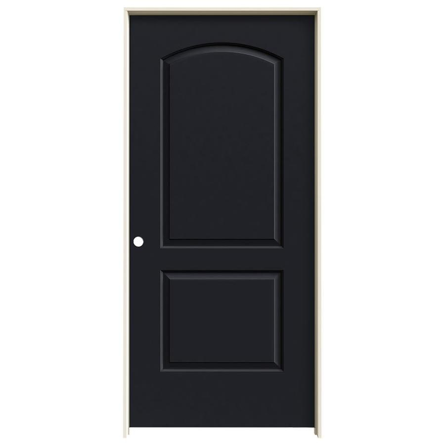 JELD-WEN Midnight Prehung Hollow Core 2-Panel Round Top Interior Door (Common: 36-in x 80-in; Actual: 37.562-in x 81.688-in)