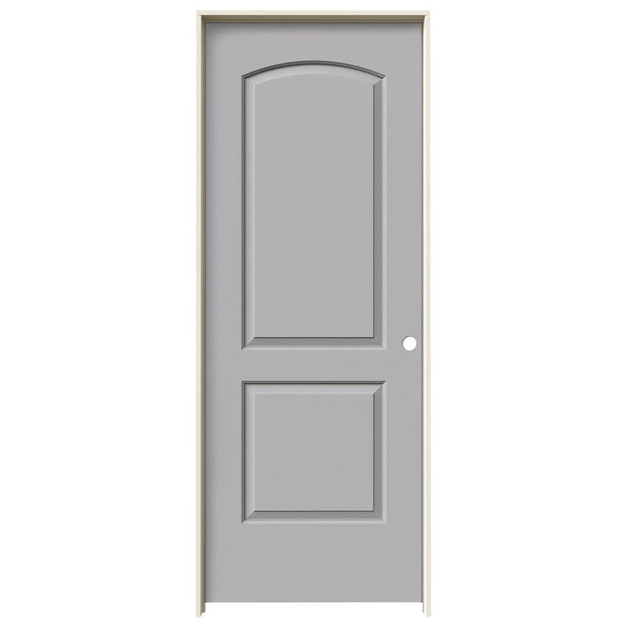 JELD-WEN Driftwood Prehung Hollow Core 2-Panel Round Top Interior Door (Common: 32-in x 80-in; Actual: 33.562-in x 81.688-in)