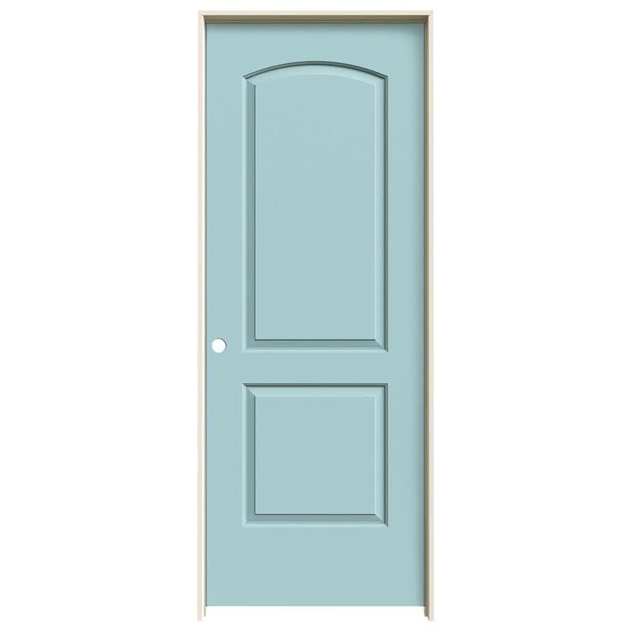 JELD-WEN Continental Sea Mist Hollow Core Molded Composite Single Prehung Interior Door (Common: 24-in x 80-in; Actual: 25.5620-in x 81.6880-in)