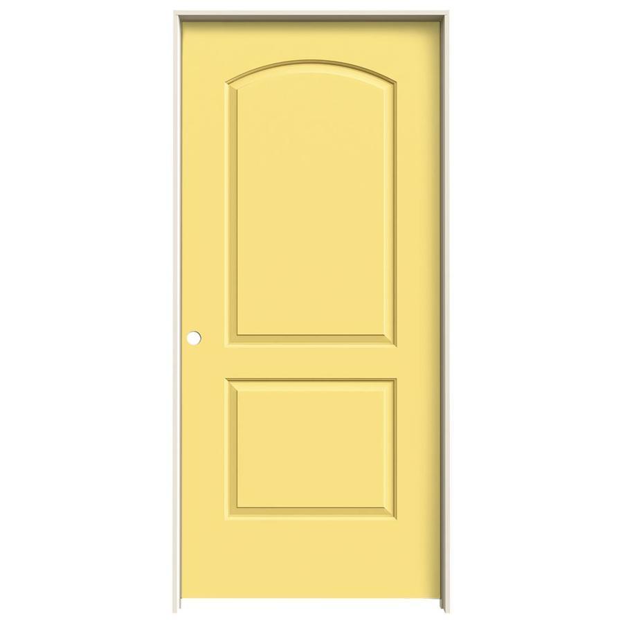 JELD-WEN Continental Marigold Hollow Core Molded Composite Single Prehung Interior Door (Common: 36-in x 80-in; Actual: 37.562-in x 81.688-in)