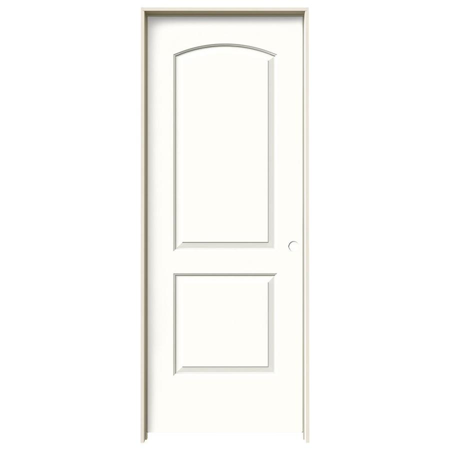 JELD-WEN Snow Storm Prehung Hollow Core 2-Panel Round Top Interior Door (Common: 28-in x 80-in; Actual: 29.562-in x 81.688-in)