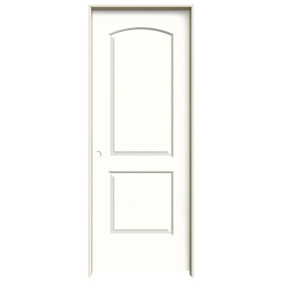 JELD-WEN Snow Storm Prehung Hollow Core 2-Panel Round Top Interior Door (Common: 30-in x 80-in; Actual: 31.562-in x 81.688-in)