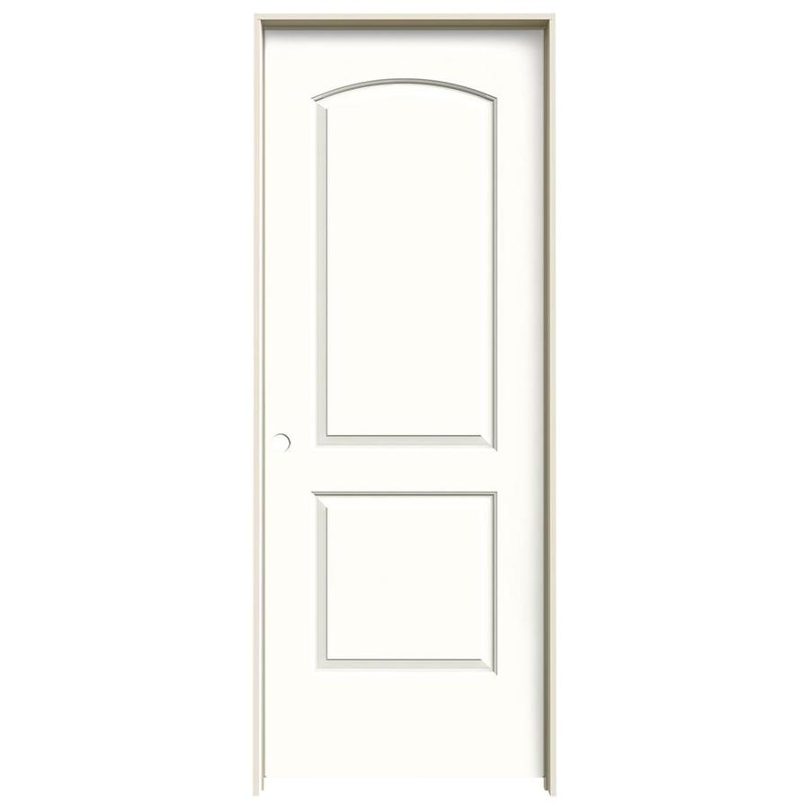 JELD-WEN Snow Storm Prehung Hollow Core 2-Panel Round Top Interior Door (Common: 32-in x 80-in; Actual: 33.562-in x 81.688-in)