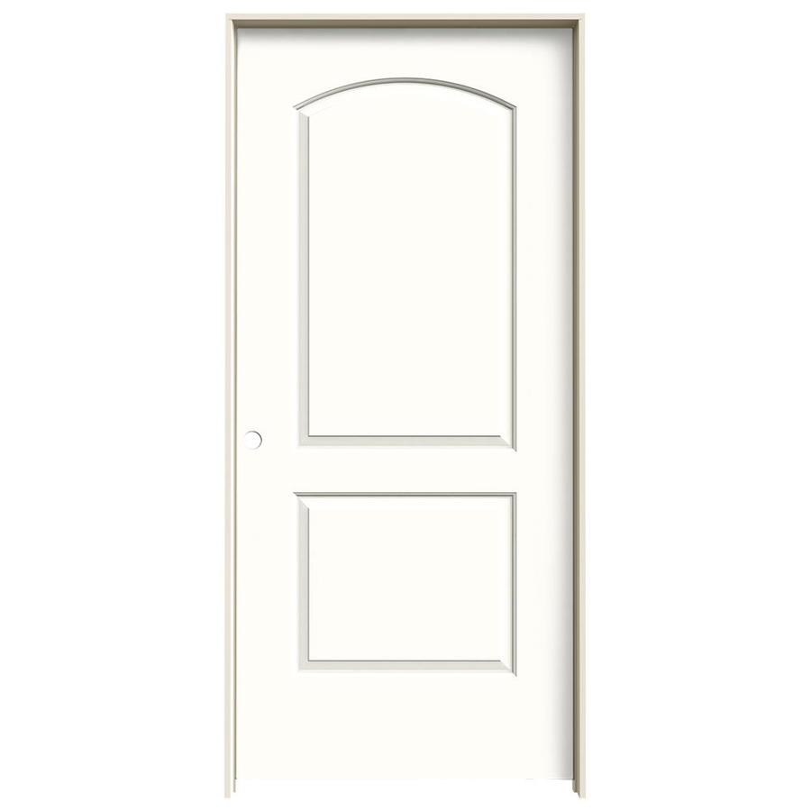 JELD-WEN Snow Storm 2-panel Round Top Single Prehung Interior Door (Common: 36-in x 80-in; Actual: 37.5620-in x 81.6880-in)