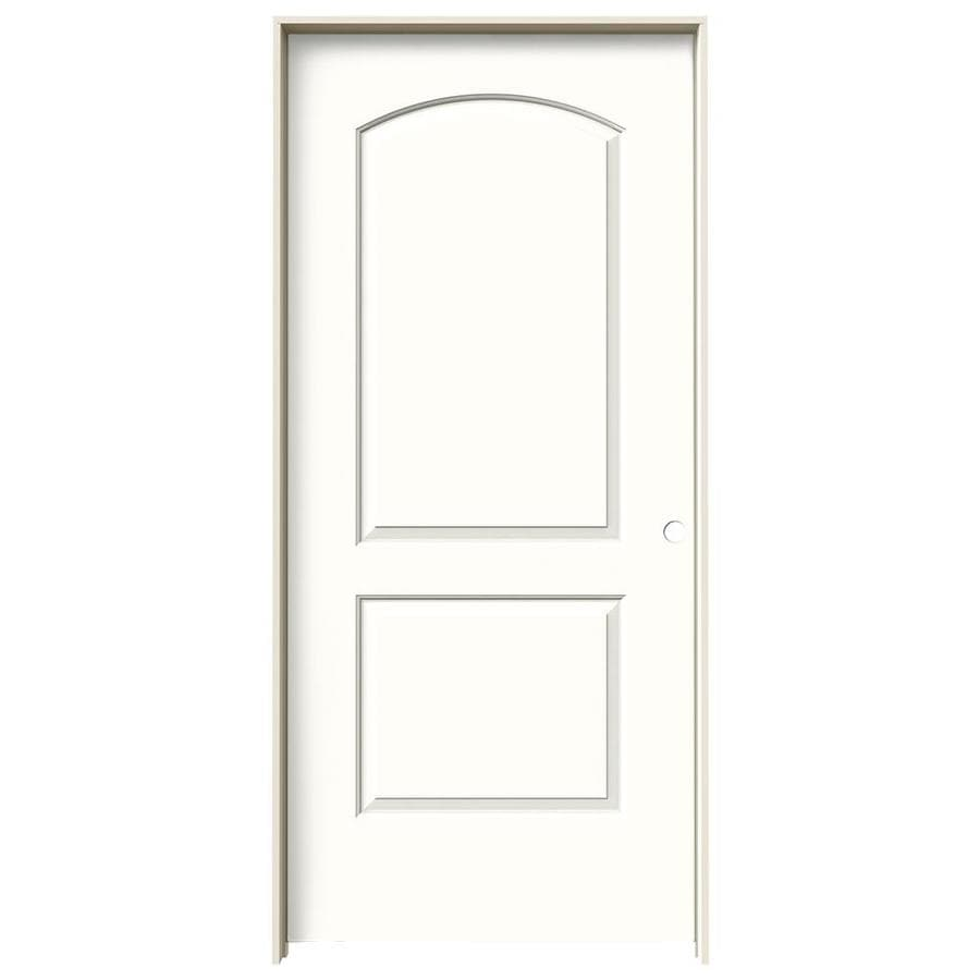 JELD-WEN Continental Snow Storm Single Prehung Interior Door (Common: 36-in x 80-in; Actual: 37.5620-in x 81.6880-in)