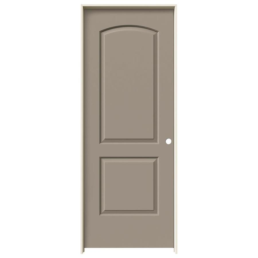 JELD-WEN Sand Piper 2-panel Round Top Single Prehung Interior Door (Common: 30-in x 80-in; Actual: 31.562-in x 81.688-in)
