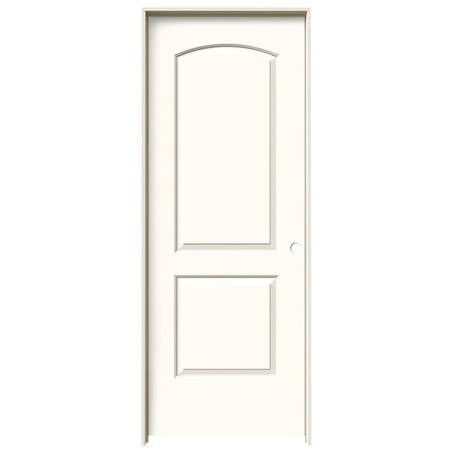 JELD-WEN White Prehung Hollow Core 2-Panel Round Top Interior Door (Common: 28-in x 80-in; Actual: 29.562-in x 81.688-in)
