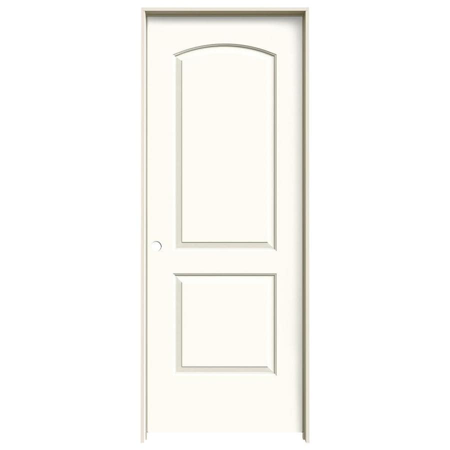 JELD-WEN White Prehung Hollow Core 2-Panel Round Top Interior Door (Common: 32-in x 80-in; Actual: 33.562-in x 81.688-in)