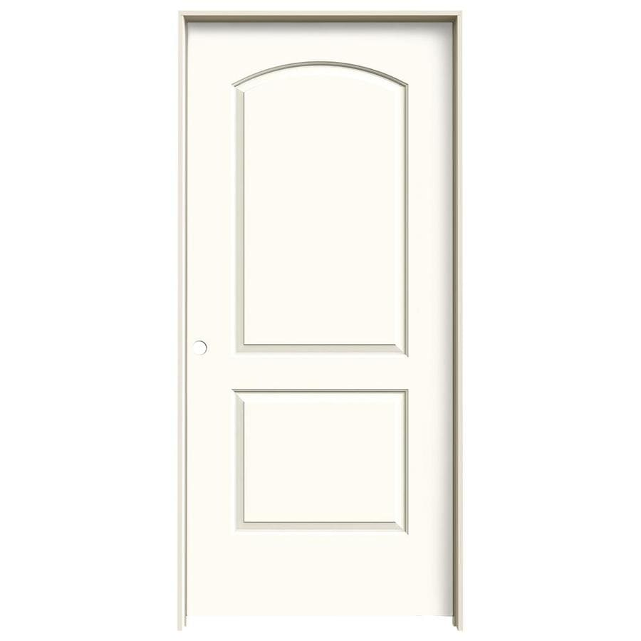 JELD-WEN White Prehung Hollow Core 2-Panel Round Top Interior Door (Common: 36-in x 80-in; Actual: 37.562-in x 81.688-in)