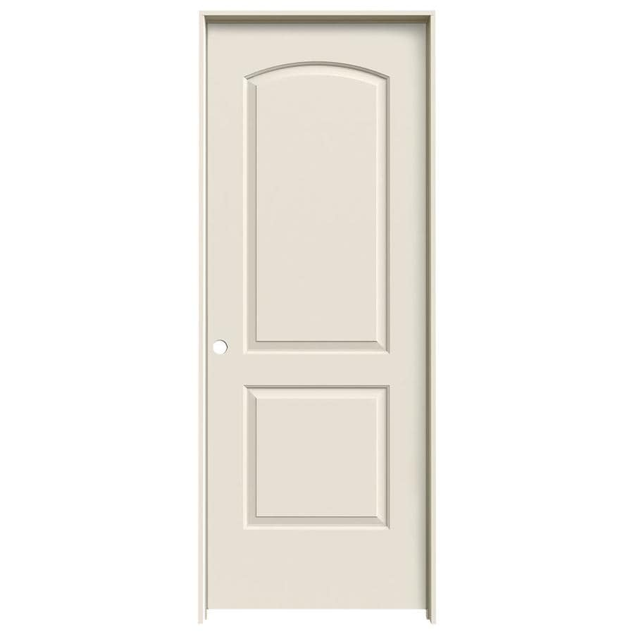 JELD-WEN Prehung Hollow Core 2-Panel Round Top Interior Door (Common: 24-in x 80-in; Actual: 25.562-in x 81.688-in)