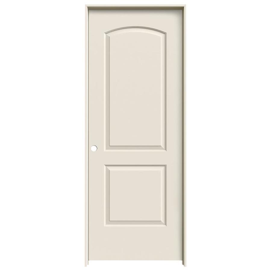JELD-WEN Prehung Hollow Core 2-Panel Round Top Interior Door (Common: 28-in x 80-in; Actual: 29.562-in x 81.688-in)