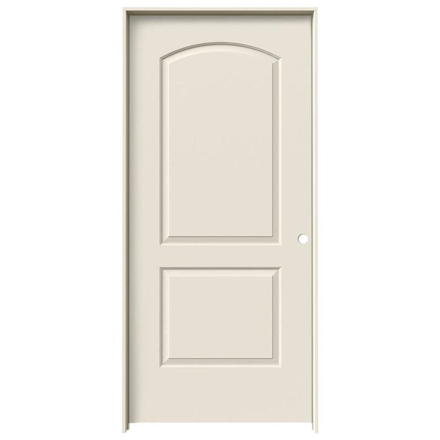 JELD-WEN Continental Primed Hollow Core Molded Composite Single Prehung Interior Door (Common: 36-in x 80-in; Actual: 37.562-in x 81.688-in)