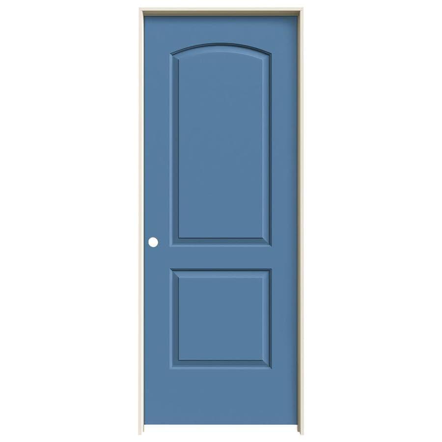 JELD-WEN Blue Heron Prehung Solid Core 2-Panel Round Top Interior Door (Common: 32-in x 80-in; Actual: 33.562-in x 81.688-in)