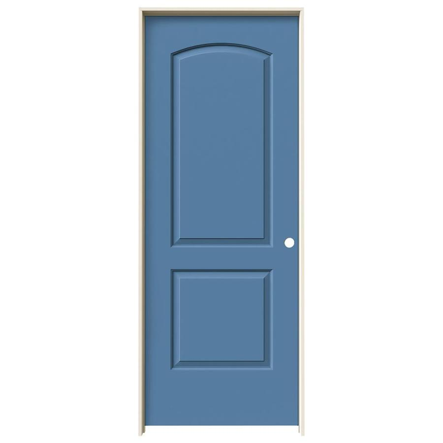 JELD-WEN Continental Blue Heron Solid Core Molded Composite Single Prehung Interior Door (Common: 32-in x 80-in; Actual: 33.5620-in x 81.6880-in)