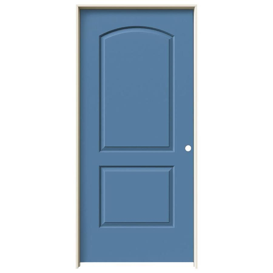 JELD-WEN Blue Heron Prehung Solid Core 2-Panel Round Top Interior Door (Common: 36-in x 80-in; Actual: 37.562-in x 81.688-in)