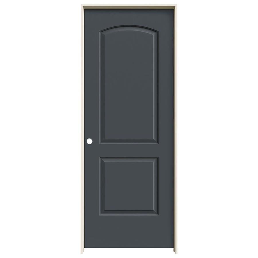 JELD-WEN Slate 2-panel Round Top Single Prehung Interior Door (Common: 24-in X 80-in; Actual: 25.562-in x 81.688-in)