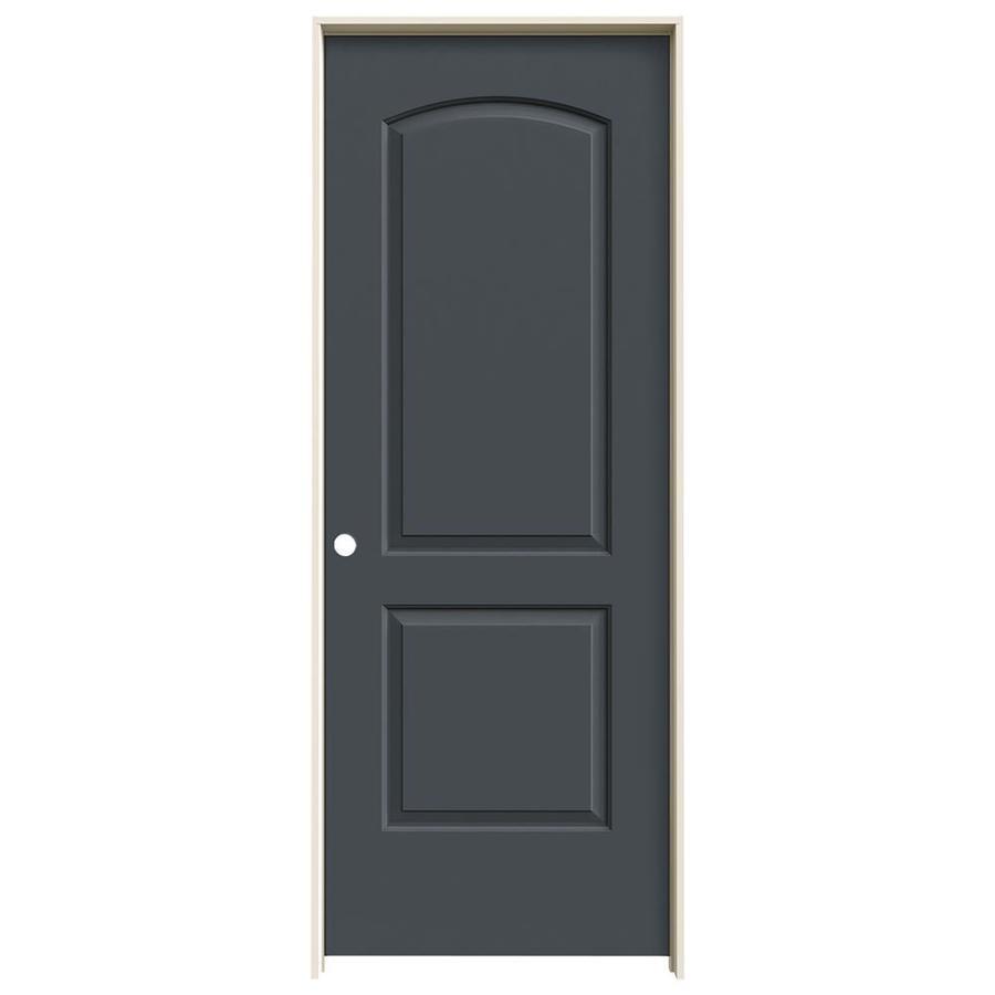 JELD-WEN Continental Slate Solid Core Molded Composite Single Prehung Interior Door (Common: 32-in x 80-in; Actual: 33.5620-in x 81.6880-in)