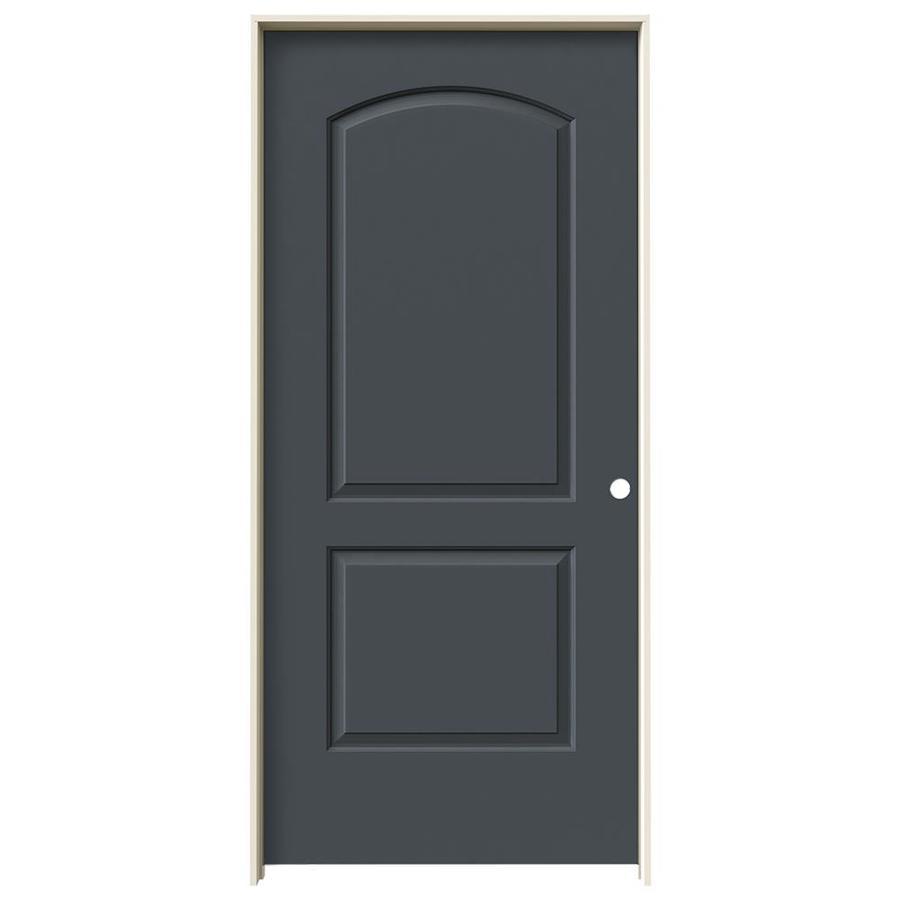 JELD-WEN Slate 2-panel Round Top Single Prehung Interior Door (Common: 36-in x 80-in; Actual: 37.562-in x 81.688-in)