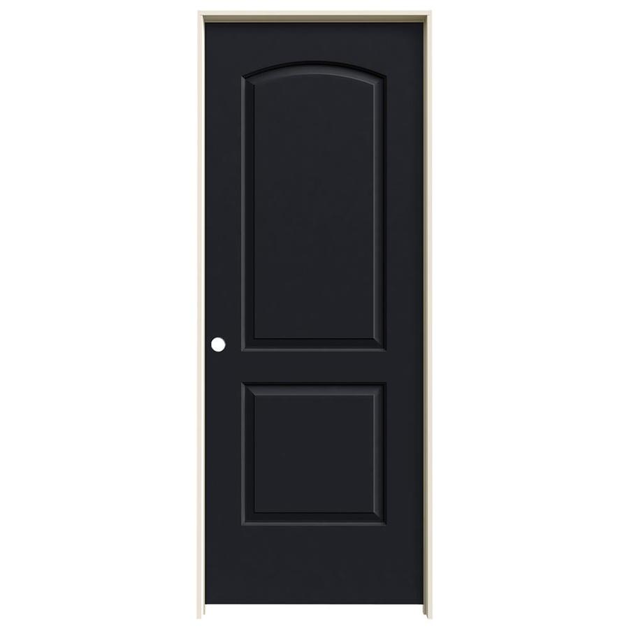 JELD-WEN Continental Midnight Solid Core Molded Composite Single Prehung Interior Door (Common: 28-in x 80-in; Actual: 29.562-in x 81.688-in)