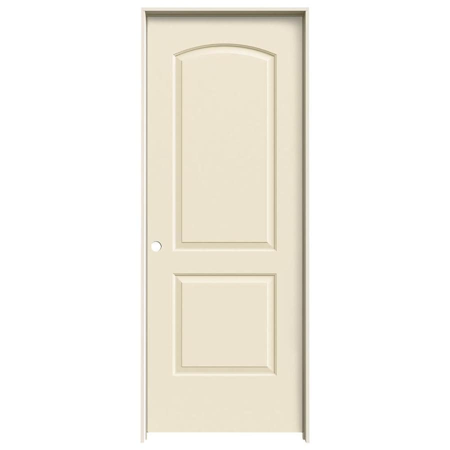 JELD-WEN Continental Cream-N-Sugar Solid Core Molded Composite Single Prehung Interior Door (Common: 30-in x 80-in; Actual: 31.562-in x 81.688-in)