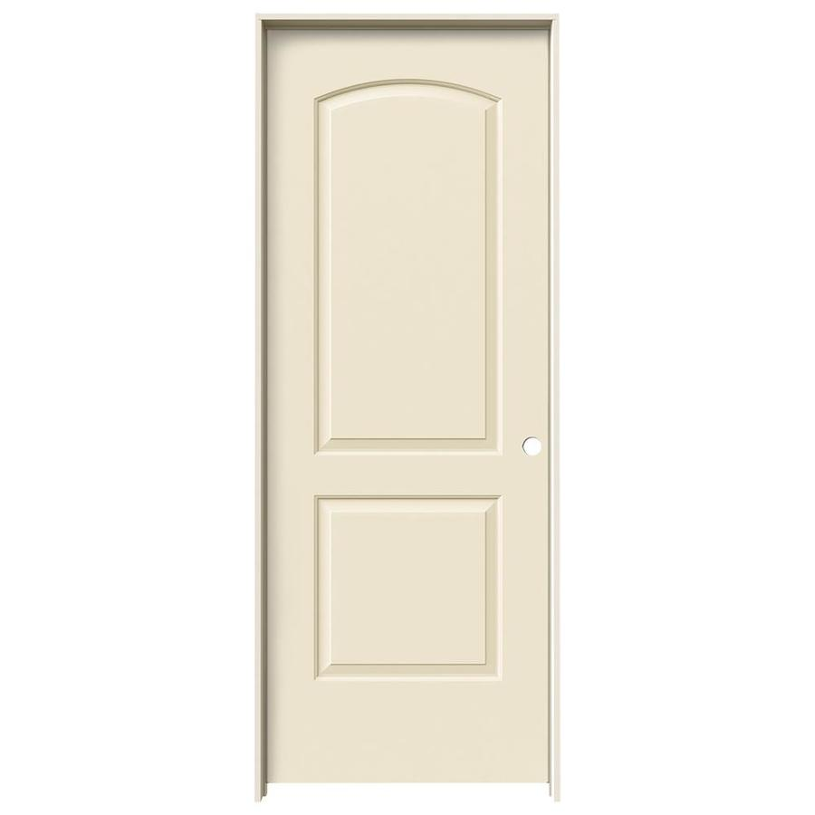 JELD-WEN Continental Cream-N-Sugar Solid Core Molded Composite Single Prehung Interior Door (Common: 32-in x 80-in; Actual: 33.562-in x 81.688-in)