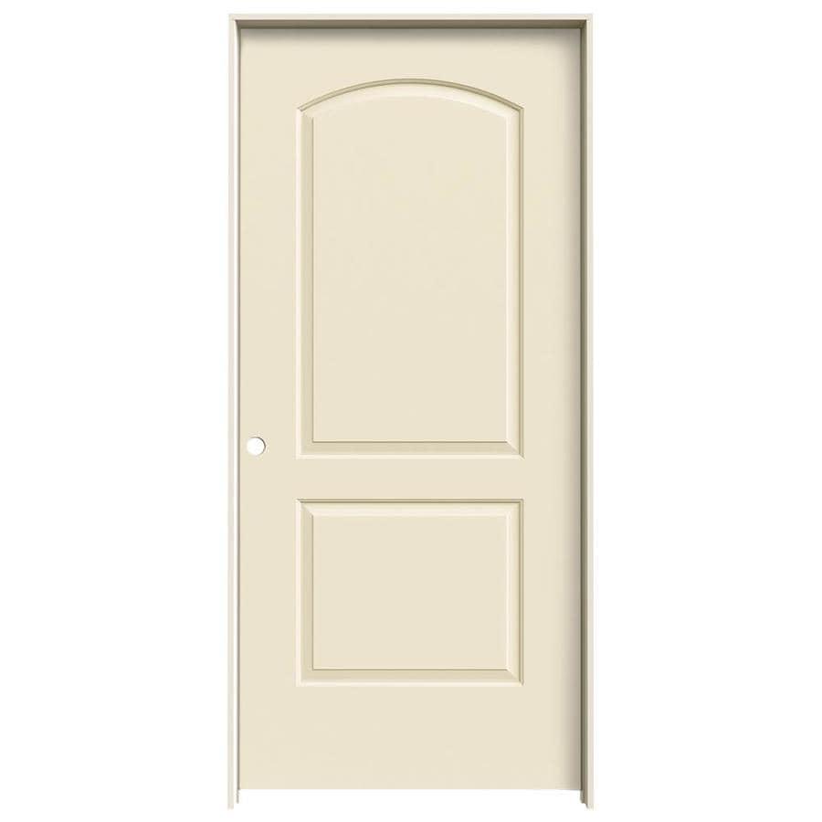 JELD-WEN Cream-N-Sugar Prehung Solid Core 2-Panel Round Top Interior Door (Common: 36-in x 80-in; Actual: 37.562-in x 81.688-in)