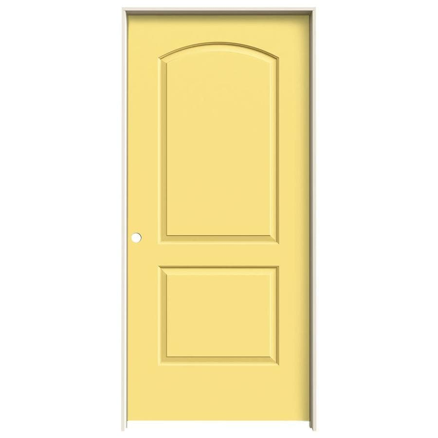 JELD-WEN Continental Marigold Single Prehung Interior Door (Common: 36-in x 80-in; Actual: 37.562-in x 81.688-in)