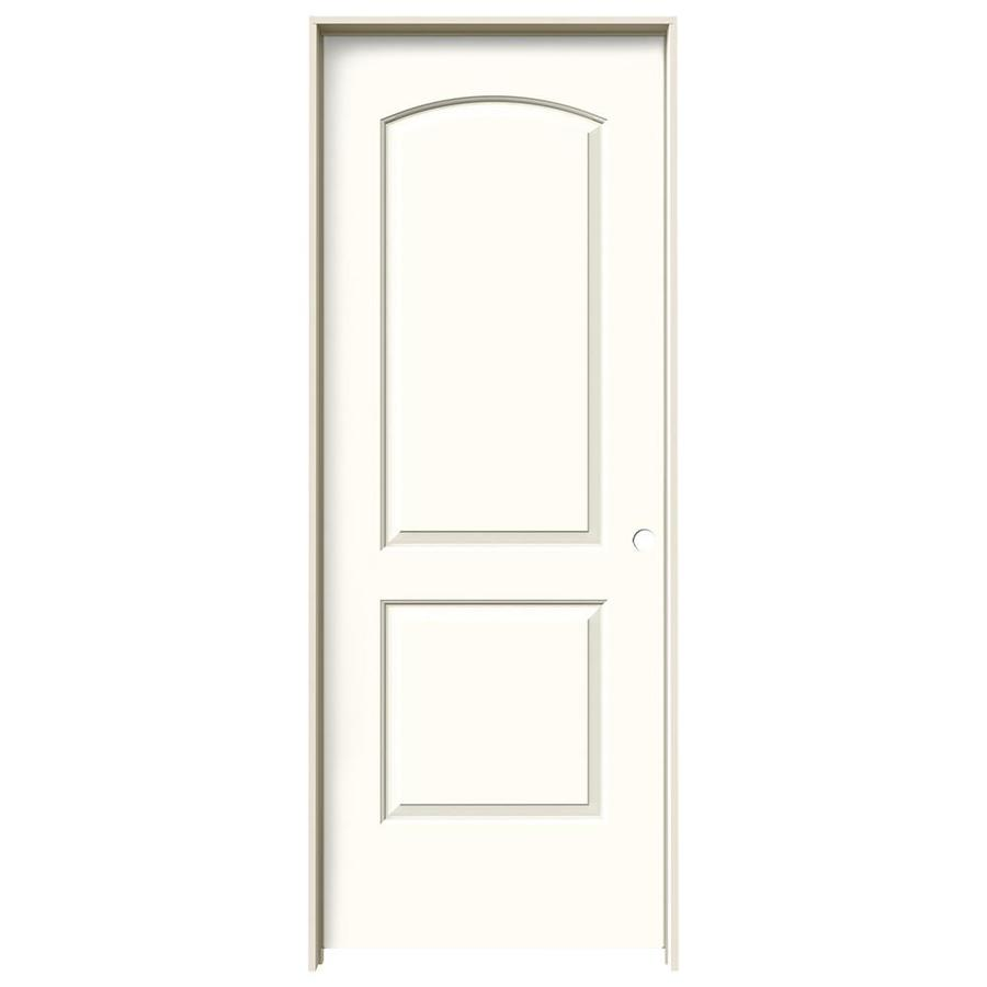 JELD-WEN Moonglow 2-panel Round Top Single Prehung Interior Door (Common: 24-in x 80-in; Actual: 25.562-in x 81.688-in)