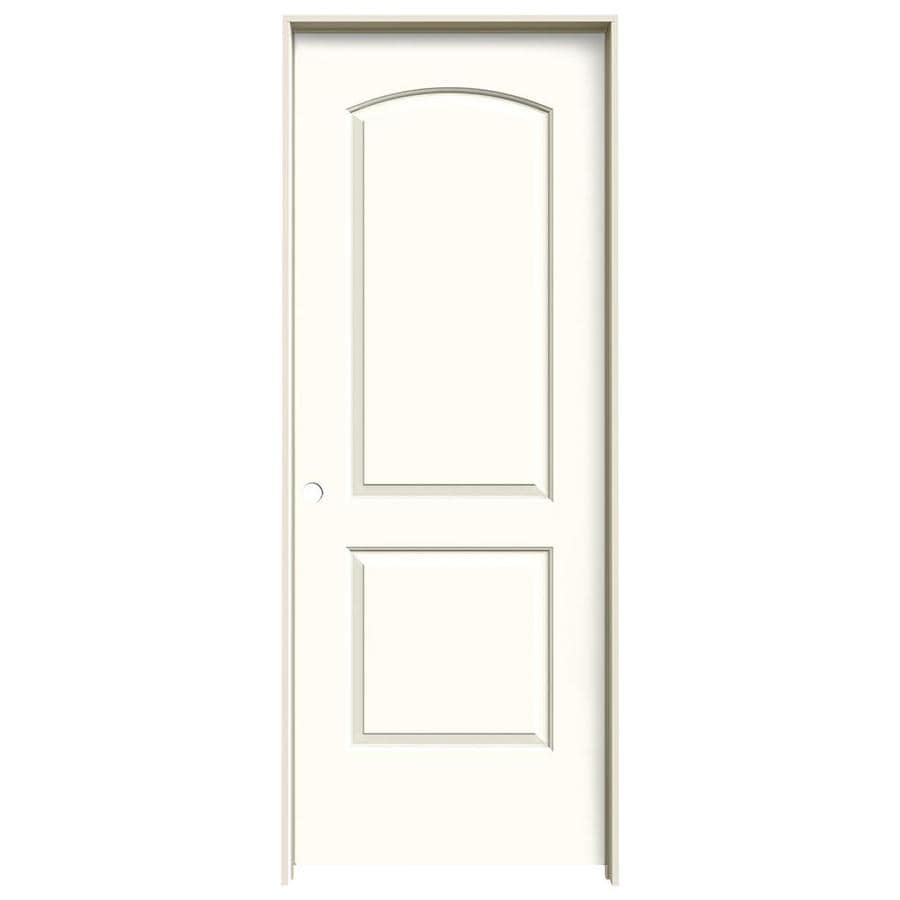 JELD-WEN Moonglow Prehung Solid Core 2-Panel Round Top Interior Door (Common: 32-in x 80-in; Actual: 33.562-in x 81.688-in)