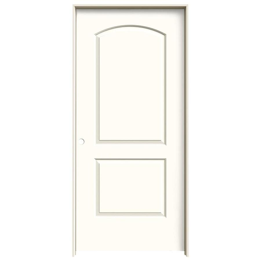 JELD-WEN Moonglow Prehung Solid Core 2-Panel Round Top Interior Door (Common: 36-in x 80-in; Actual: 37.562-in x 81.688-in)