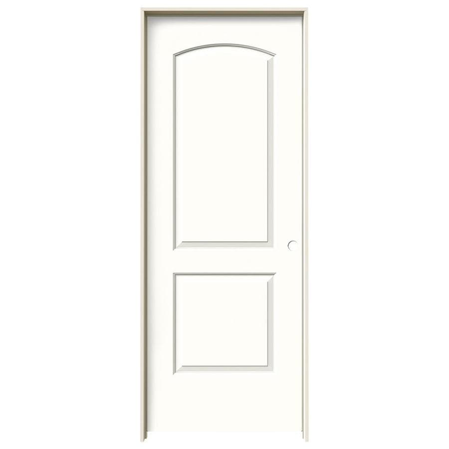 JELD-WEN Snow Storm Prehung Solid Core 2-Panel Round Top Interior Door (Common: 30-in x 80-in; Actual: 31.562-in x 81.688-in)