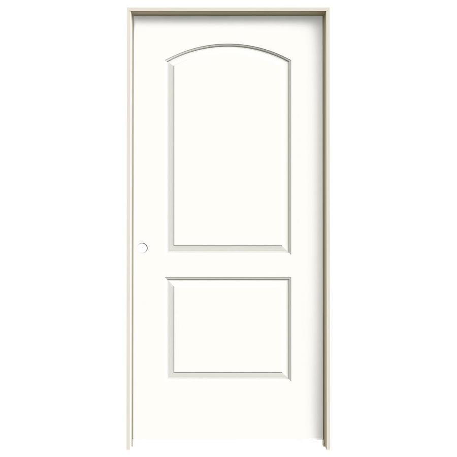 JELD-WEN Snow Storm 2-panel Round Top Single Prehung Interior Door (Common: 36-in x 80-in; Actual: 37.562-in x 81.688-in)