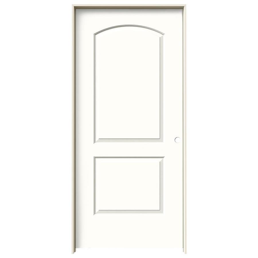JELD-WEN Snow Storm Prehung Solid Core 2-Panel Round Top Interior Door (Common: 36-in x 80-in; Actual: 37.562-in x 81.688-in)