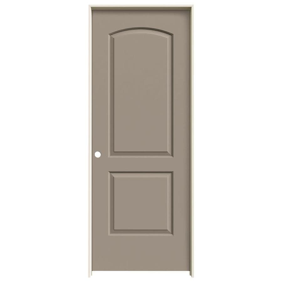 JELD-WEN Continental Sand Piper Single Prehung Interior Door (Common: 30-in x 80-in; Actual: 31.5620-in x 81.6880-in)